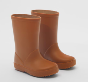 kids rust orange wellies