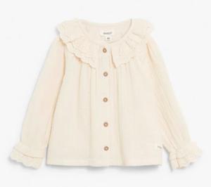 Beige frill blouse