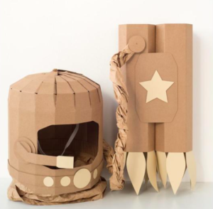 Cardboard DIY astronaut kit