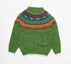 Green fair isle jumper