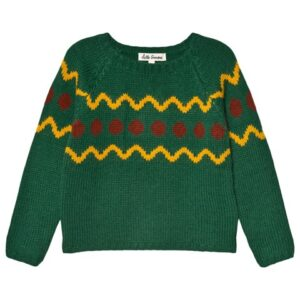 Green festive jumper