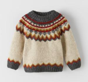 Jacquard knit jumper