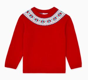 Red fairisle jumper