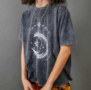 Grey celestial t-shirt