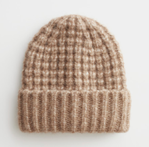 Chunky knit wool beanie