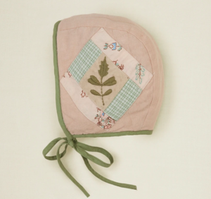 Embroidered baby bonnet
