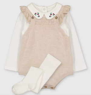 Oatmeal baby body set