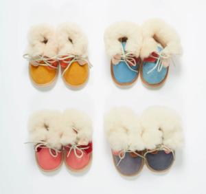 Baby sheepskin booties