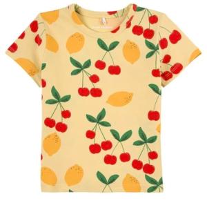 Yellow cherry tee