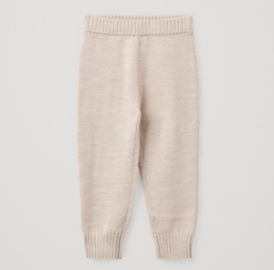 Merino knitted wool trousers
