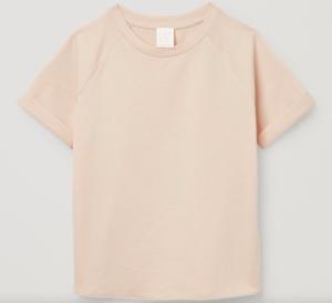 Beige raglan t-shirt