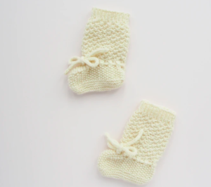 Cream knit booties