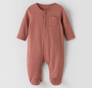 Dusty pink sleepsuit