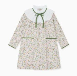 Floral frill collar dress