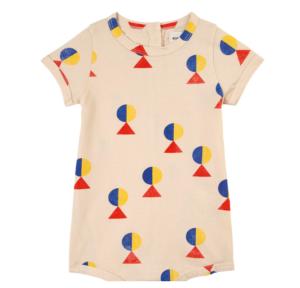 geometric print baby romper
