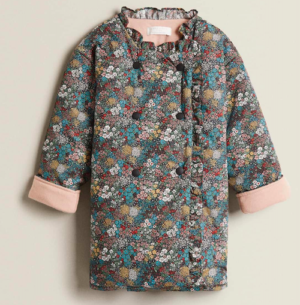 Girls floral poplin dressing gown