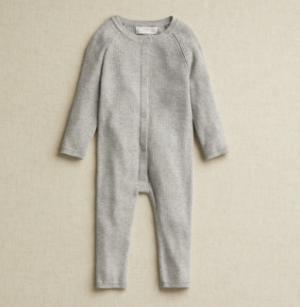 Grey rib knit all in one