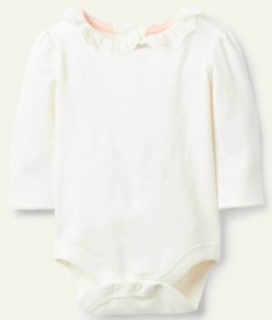Ivory frill collar bodysuit