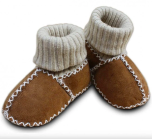 Lambskin booties