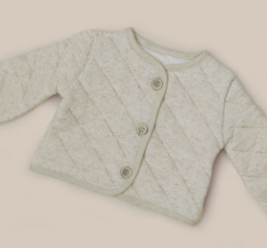 Linen quilted baby jacket