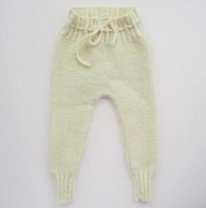 cream knit baby leggings