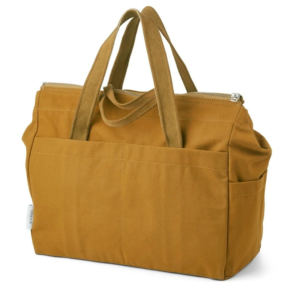 Olive green cotton changing bag