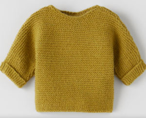Olive knit baby sweater