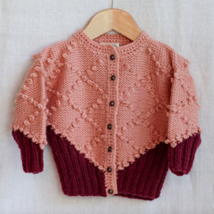 Pink knit heritage baby cardigan