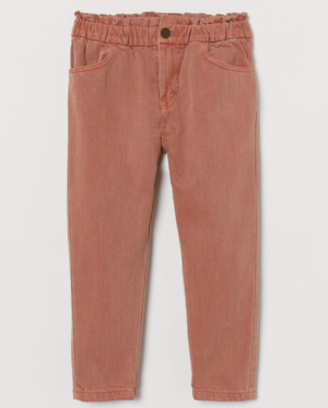 Pink pull on jeans