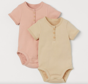 Ribbed baby bodysuits