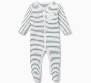 Striped baby sleepsuit