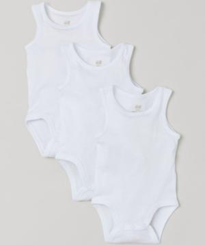 White baby vests
