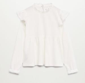White lace long sleeve blouse