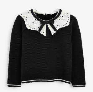 Black frill collar jumper