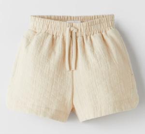 cream rustic shorts