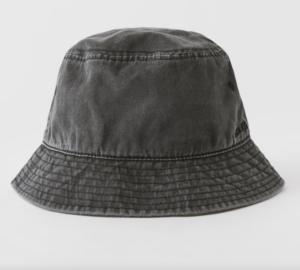 faded denim bucket hat