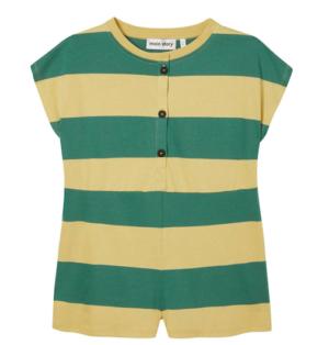 Green stripe playsuit