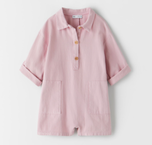 Pink polo playsuit